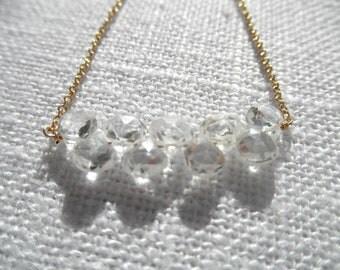 Cubic Zirconia necklace - CZ necklace - gold necklace - K A T E 197