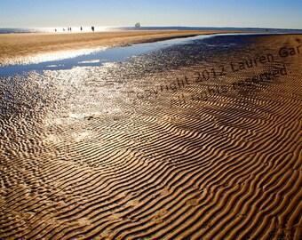 Sullivan's Island - Charleston SC Photography Beach South Carolina Ocean Nautical Sand Brown Blue Pattern Coastal Fine Art - 8x10 Photograph