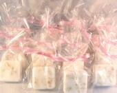 24 Oatmeal Shea Butter Soap Favors, Wedding Shower, Baby Shower