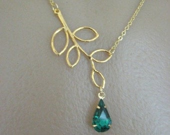 Emerald Isle Gold Dipped Branch Necklace