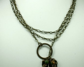 Brass and Citrine Necklace