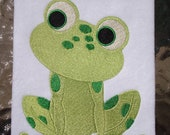 Frog 2, INSTANT DOWNLOAD, Embroidery Design for Machine Embroidery 5x7