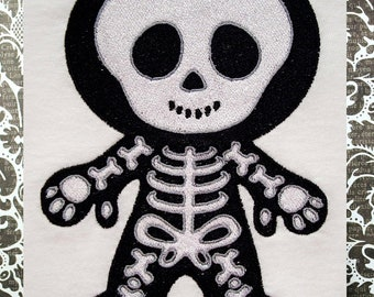 Skeleton, INSTANT DIGITAL DOWNLOAD, Halloween Embroidery Design for Machine Embroidery 5x7