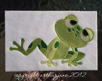 Frog 4, INSTANT DOWNLOAD, Embroidery Design for Machine Embroidery 5x7