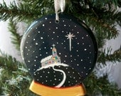 Christmas Ornament - Chapel in the Snow Globe