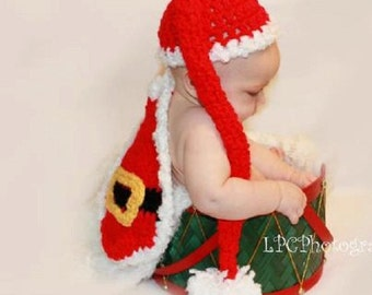 baby  boy hat baby santa  claus hat and cape baby crochet hat, newborn baby hat, crochet baby hat,children, gift