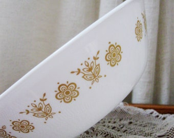Vintage Corelle Corning Serving Bowl Butterfly Gold Pyrex Serving Dish  1970s