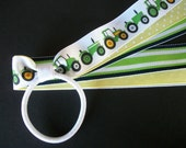 MTM John Deere Tractor, Green and Yellow  Cheer/Dance Team Pony Tail Hair Bow
