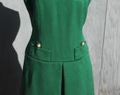 Hunter Green Fall Frock Day Dress S/M