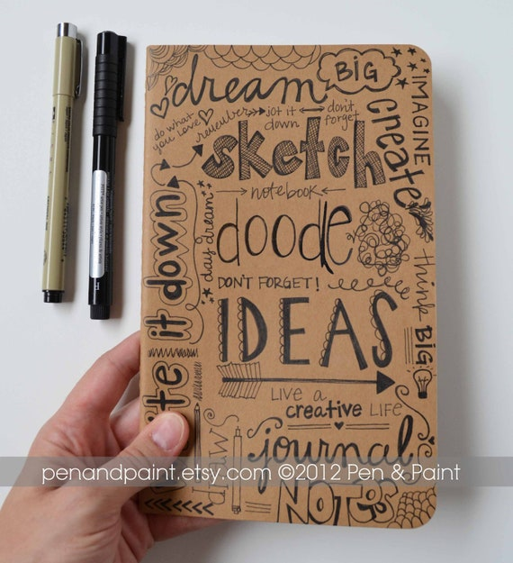hand drawn notebook journal diary sketchbook idea book