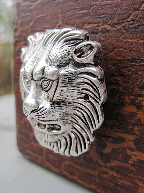 Metal Lion Head Drawer Knob Cabinet Pull In Silver Mk146