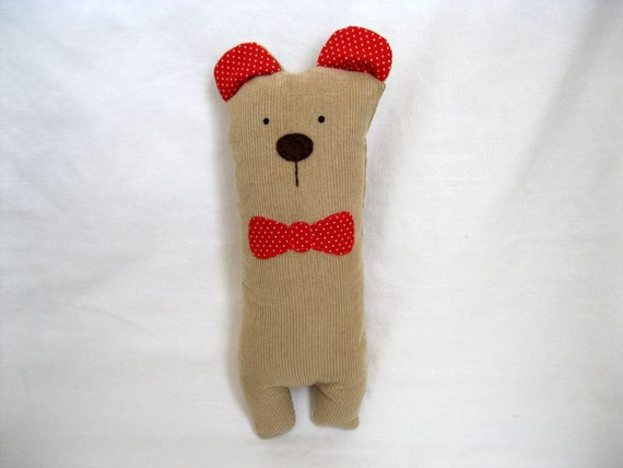 Simon a Proper bear with a bow tie Plush Stuffed toy