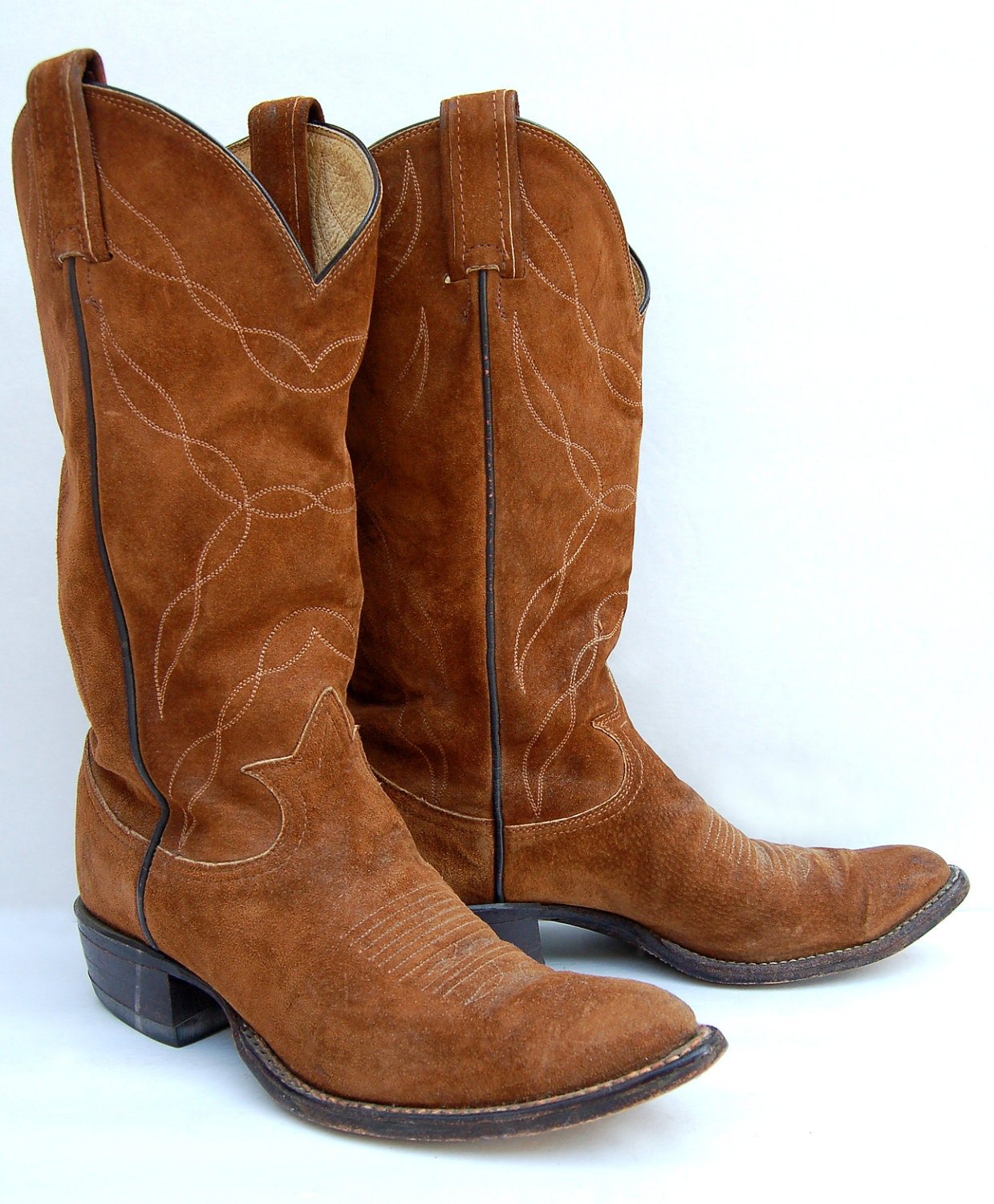 Brown Suede Tony Lama Women S Vintage Cowboy Boots Hold