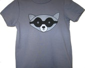 Raccoon Shirt Cotton Grey