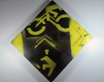 Bike Stencil Painting