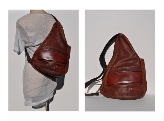 Ergo Vintage Leather Backpack Ll Bean Sling Healthy By