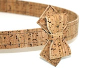 Vegan Bow Headband - Cork Fabric headband