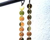 Long Dangle Earrings Gold Chain Earrings  Womens Earrings