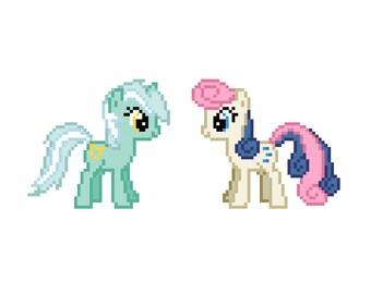 Lyra and BonBon (My Little Pony: Friendship Is Magic) - Cross Stitch Pattern