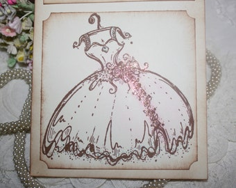 Will You Be My Bridesmaid - Beautiful Wedding Dress - Greeting Card - Wedding -  Wedding Party