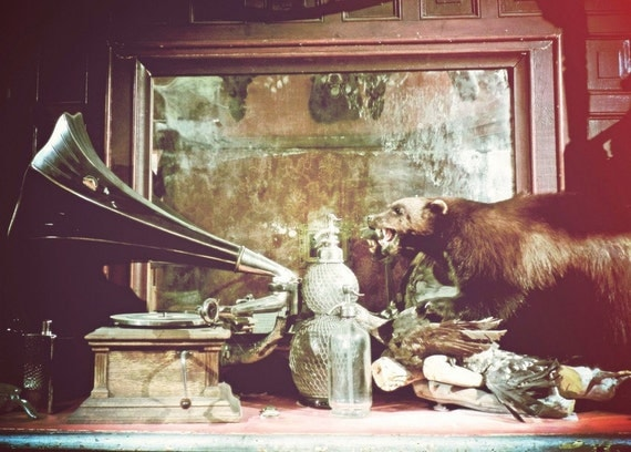 "Oddities Photograph ""Carnival Saloon"" Cabinet of Curiosity Fine Art Print"