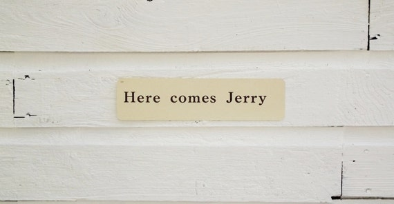 Vintage Flash Card Here Comes Jerry