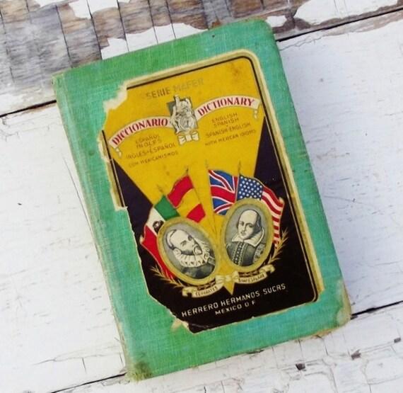 Vintage Spanish Dictionary