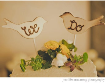 Rustic Wedding Cake Topper Love Birds We Do Vintage Chic Decor
