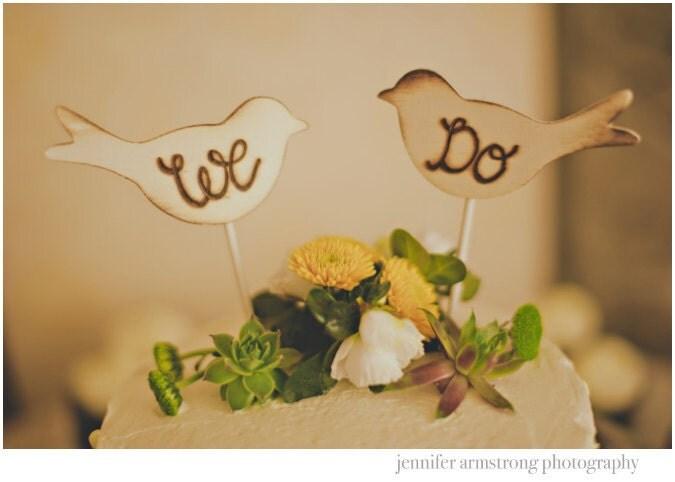 Rustic Wedding Cake Topper Love Birds We Do Vintage Chic Decor