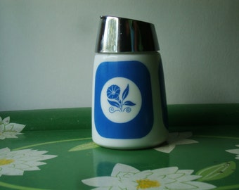 Cheery Vintage Dripcut Starline Sugar Dispenser - Blue Morning Glory Design - Circa 1959