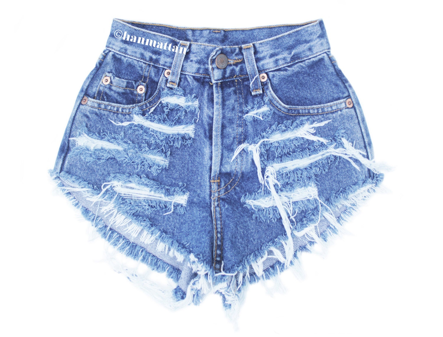 ALL SIZES RAGGED Vintage Levi high-waisted denim