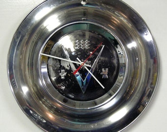 1953 Buick Hubcap Clock - Buick Roadmaster Wall Clock