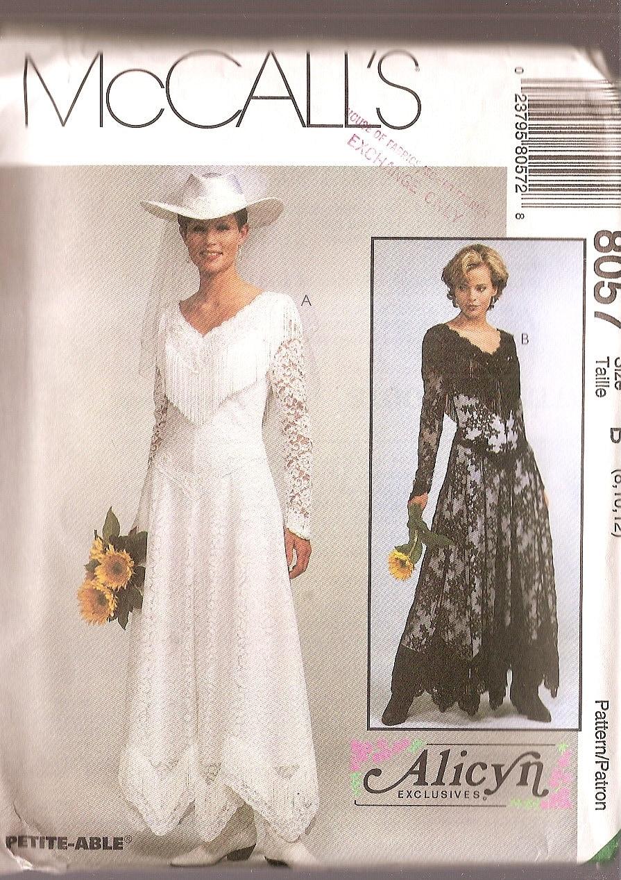 Western wedding dress pattern mccalls 8057 by nancesnostalgia for Wedding dress patterns mccalls