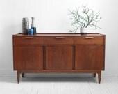 Vintage Teak Credenza - Mid Century, Modern, Wood, Buffet, Cabinet, Dresser