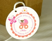Personalized Baby Carriage Tags with a baby bear BT5