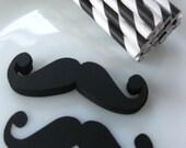 DIY Vintage Mustache Straw Kit 50 Paper Straws Photo Prop