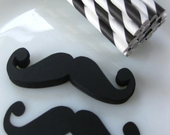 DIY Vintage Mustache Straw Kit 25 Paper Straws Photo Prop