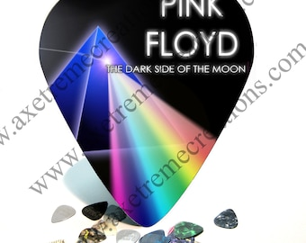 Giant / HUGE Guitar Pick Wall Art - Pink Floyd - Dark Side of the Moon - Made in the USA