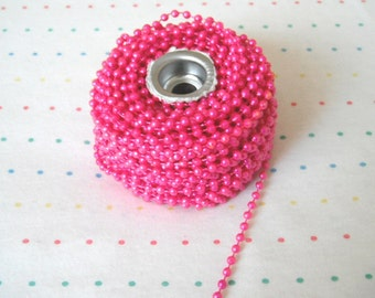 Small Hot Pink Pearl Trim, 4 mm - 3 Yards