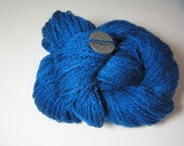 Alpaca Yarn, Suri Alpaca/Merino 80/20, Fingerweight, Peacock Blue, 300yds