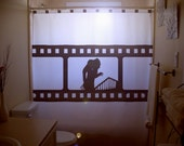 Film Reel Nosferatu Shower Curtain Vampire Movie Bathroom Decor Kids Bath Scary Symphony of Horror 1922 unique custom