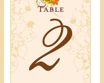 Wine Bottle Table Numbers - Autumn Wine Labels - Sunflower Wine Labels for Weddings - Rehearsal Dinner - Customizable - 5 Labels