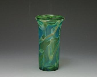 Bud Vase- Shot Glass- Lampwork Handblown Boro- Kyle Keeler