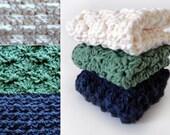 Sampler Washcloth Set - PDF Crochet Pattern - Instant Download