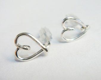 Stud Earrings   Post Earrings  Sterling Silver Earrings  Gold Earrings  Rose Gold Earrings   Valentines Gift   Tiny Heart Earring