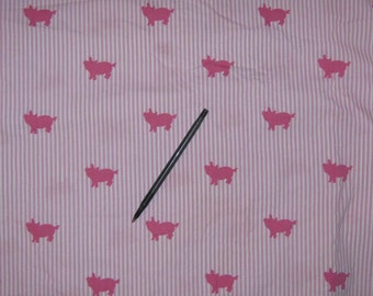 Full  flat twin    bed sheet    And 1 pillowcase Pink Pigs   100% cotton