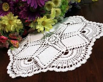 Six-point crochet star doily