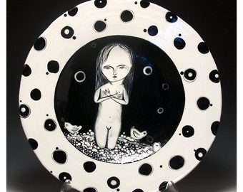 Independence Day Super Special Deal - Price Reduction - Black and White Plate - Perfect Wedding Gift