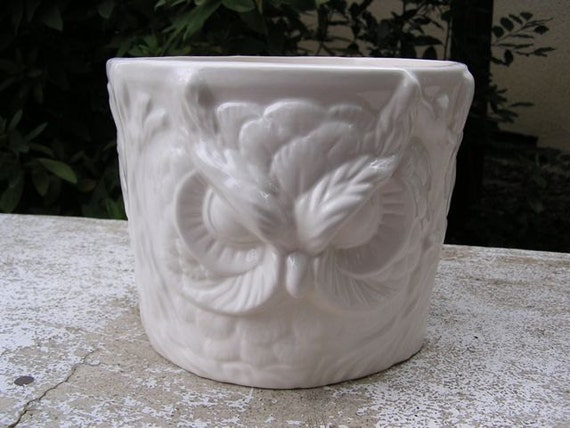 SALE Guardian Owl Garden Planter