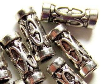 30 Antique silver beads 13mm x 5mm x 3mm handmade jewelry supplies boho chic ethnic beads HP(SR7-4),